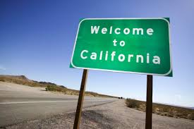 calif welcome sign
